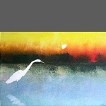 Egret on the Bayou (unframed size 20x24cm)